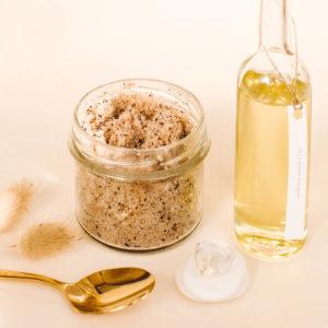 naturalny peeling kawowy, olej do masażu, masaż kraków
